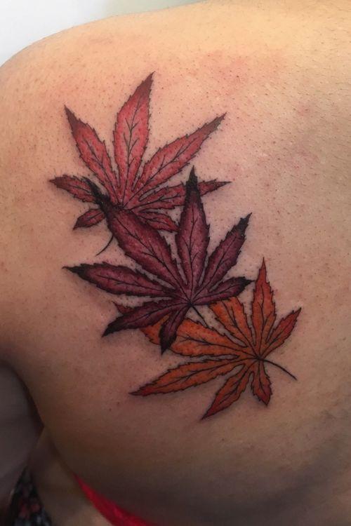 #momiji #tattoos #nature #color #yamatattoostudio #akuma #roma