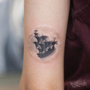 pirate ship from Peter Pan :) #shiptattoo #pitateship #PeterPan