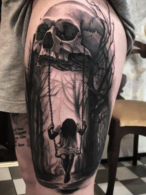 Swinging from death #skull #death #swing #dark #tattoo #tattoodoambassador