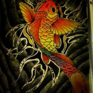 A #koi i was working on a few nights ago maybe not a tattoo but the art is still appreciated #tattooartist #tattoo #fish #japanese #fun #color #RainbowBrite #rainbow