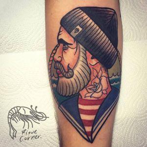 #sailor #riquecorner #traditional #tattooartist #tattoooftheday