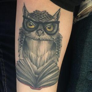 Beautiful owl by #DarrenBrass at #lovehatelondon