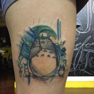 Totoro tattoo by Kaiser Sin Since Tattoo Studio HK #totoro#carteen