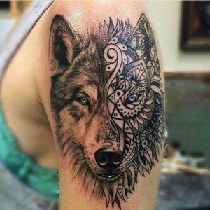 Want! #Tattoo #Wolf #Tribal