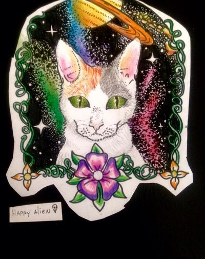 Space cat #space #galaxy #galaxia #espacio #ufo #stars #estrellas #planeta #jupiter #saturno #planet #cosmo #cosmic #tattoo #ink #inkñofe #tattoolige #tatuaje #art #arte #artlife #blackandwhite #blancoynegro #draw #dibujo #happyalientattoo #detail #work #happy #dotwork #love #cat #mew