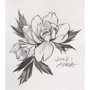 flash #peony #flower #tattoodesign #linework #blackandgrey #koreatattoo #blackwork #blackworker #korea #adelatattoo #flash #tattooflash #toptattooflash #flowertattoo #rose #rosetattoo