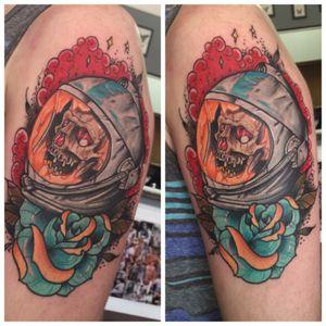 Forgot to post from lady weekend #tats #tattoos #tattoo #art #ink #guyswithink #girlswithink #plugs #beard #eternalink #phucstyxtattoosupply #steelfangstattoosupply #pridetattooneedles #electrumstencilprimer #electrum #workingclassmetals #teammedieval #teamelectrum
