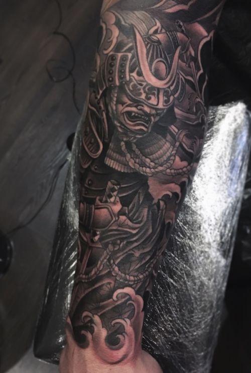 Samurai #samurai #irezumi #japanese #blackngrey #fingerwaves #tattoodo #wearesorrymom