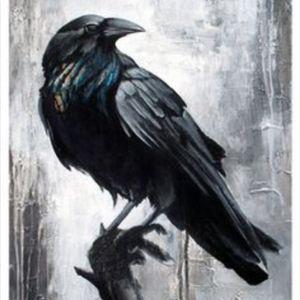 Pretty raven/crow tattoo #tree #branch #raven #crow