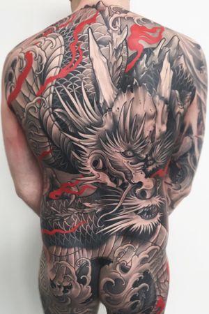 Dragon backpiece #dragon #japanese #irezumi #tattoodo #wearesorrymom