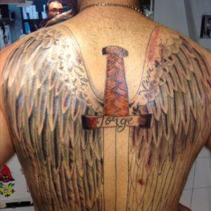 #espalda #alas #espada #angel