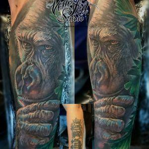 #coverup #gorilla #realism #colortattoo #uktta