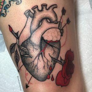 Dot work anatomical heart