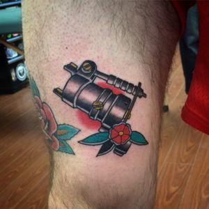 Dan Kubin rotary  machine.  #tattoo #rotarymachine #traditional #traditionaltattoo #dankubin #depressionink