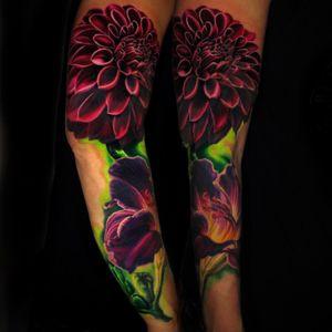 Artist #jamieSchene#sleeve #flower
