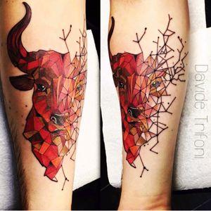 #davidetrifoni #bull #geometric #animal #Taurus