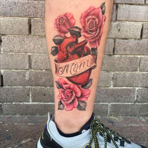 My mom died a year ago after an 18 month battle with breast cancer. She loved her roses, so i got this as a memorial for her. Done by the uber talented Em Scott in LA.