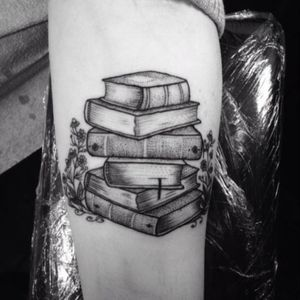A stack of books #booknerd done by #AnkaLavriv