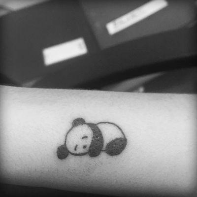 #Panda #tattoospequenas #blackAndWhite #tattoo