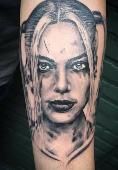 Done by Bram Koenen - Resident Artist. #tat #tatt #tattoo #tattoos #amazingtattoo #tattoolovers #ink #inked #inkedup #amazingink #inklovers #blackandgrey #blackandgreytattoo #womanportrait #woman #SuicideSquad #movie #amazingart #artlovers #art #culemborg #netherlands