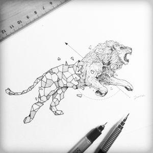 #lion #realism #geometric #geometrictattoo #blackAndWhite #animal #animaltattoo