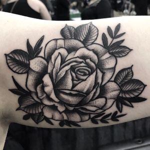 #blackwork #rose #flower #tattoo #tattoooftheday