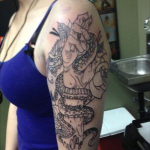 Started this baby this year cant wait to finish my sleeve !