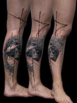 For more of my tattoos, check out www.instagram.com/bacanubogdan or www.Facebook.com/bacanu.bogdan.7 #BacanuBogdan #tattoooftheday #tattoo #blackandgrey #realism #realistic #tattooartist #legtattoo