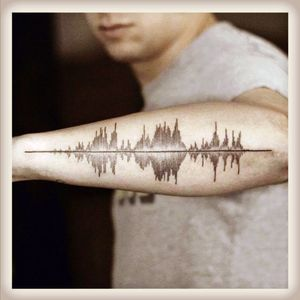 Soundwaves #soundwaves #sound #music #forearmtattoos