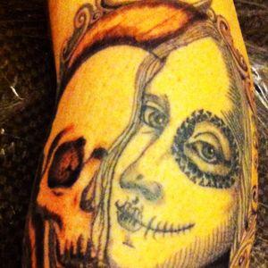 #tatto #andrea #berlin #finished #blackandwhite #leonardodavinci #rodin ##cheyenne#hawkpen#