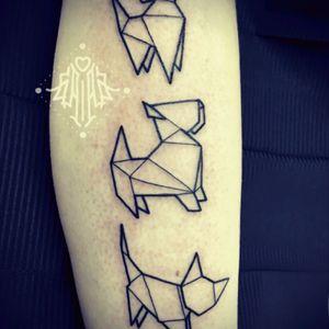 #minimal #origami #pets artist @gaiabi