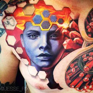 #JesseRix #portrait #honeycomb #3d #hyperrealism