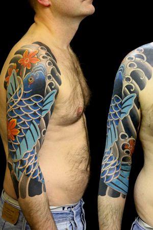 #japanesetattoo #irezumi #horimono #tattoos #tattoouk #tattoolondon #lucaortis #koitattoo