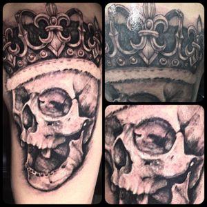Skull and Crown Tattoo done by Shaun Loyer @dba_tattoo or @inkedlife1979
