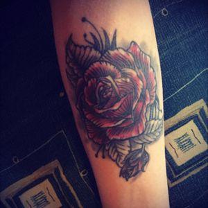 #rose #redrose #TattooWork #armtattoo
