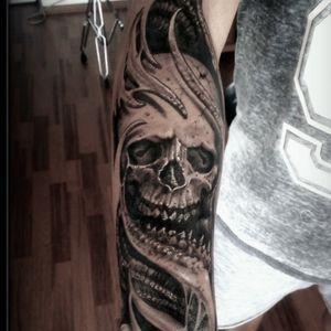 creature skull #atalaygolge #skulltattoo #skull #dead #horror #horrortattoo @atalaygölge