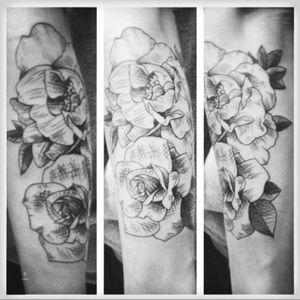 #flowers #blackandgrey #sketchstyletattoo #metamorphosis