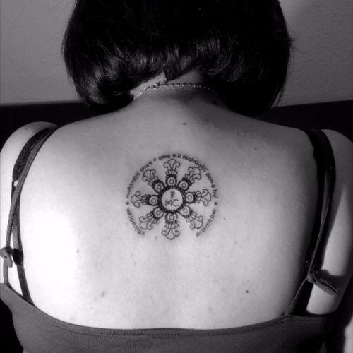 PMC #nahuatl #blackwork #linework #TattooGirl #MexicoCity
