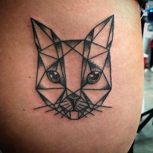 #geometric #cat #geometriccat #geometrictattoo