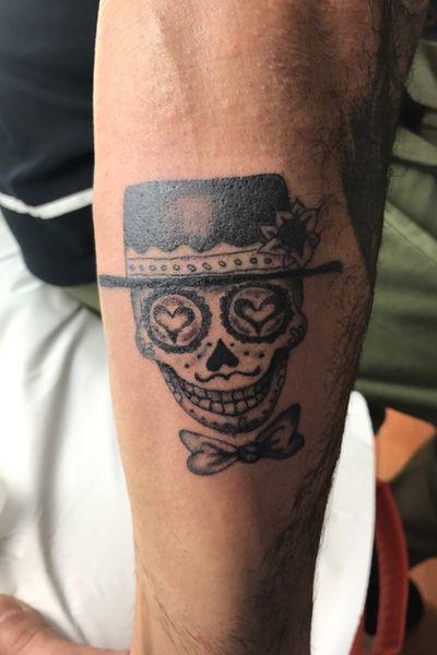 Calavera mexicana #skull #diadelosmuertos #blackandgrey #calavera
