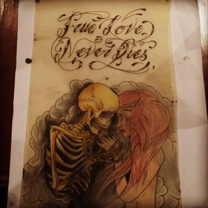 #megandreamtattoo #trueloveneverdies #skull #naked #redhead