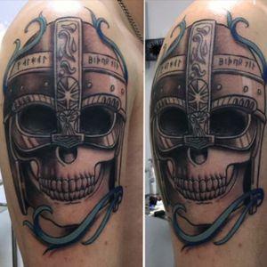 #viking #skull #skulltattoo #vikingtattoo