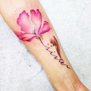 Love this flower! #flower #sister #font #pinkflower