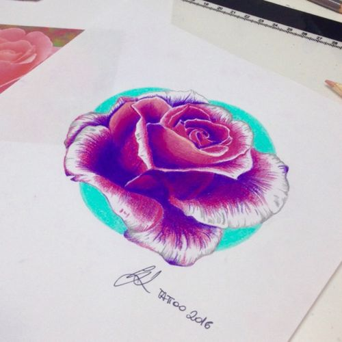 My realistic drawing #rose #realisticdrawing #tattoo #realism #ink #fabercastell