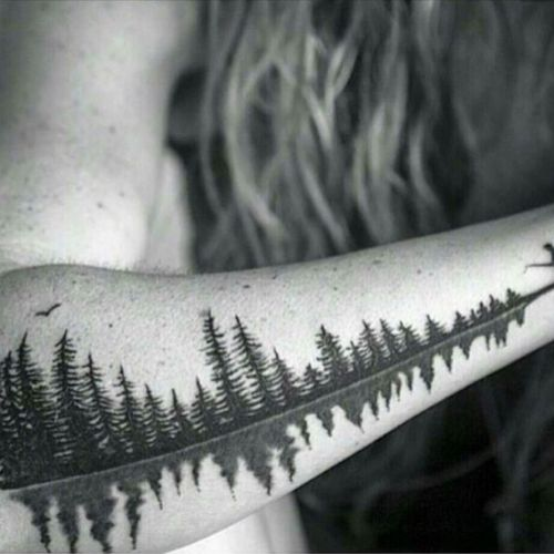 Awesome #nature #trees #scarcovering #reflection #forearm