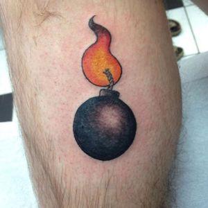 Super stoked to tattoo #bombshell Nixon today lol thank you !! #bomb #bombtattoo #colortattoo #tattooapprentice #calgarytattoocompany #cartoonbomb #tattoo #ink #ems420 #eikondevice #neotat #calgarytattoo #yyctattoo #yycsaturday