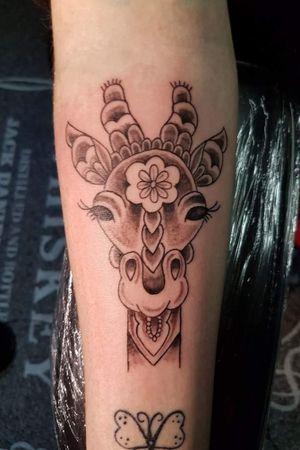 Giraffe tattoo # tattoodesign #giraffetattoo #inked #giraffe