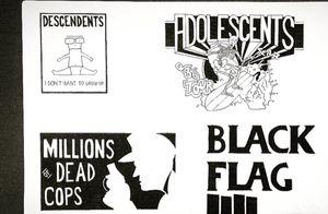 American Punk Hardcore.                              #sketch #sketching #sketchtattoo #sketchbook #drawing #painting #followme #followforfollow #likeforlike #instaart #instalike #tattoo #oldschool #oldschooltattoo #traditionaltattoo #traditionaltattooit #original #blackandwhite #blackflag #mdc #adolescents #descendents #punk #hc