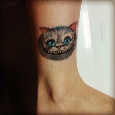 #Cheshirecat #TimBurton #aliceinwondeland #cat #colortattoo #LouisLacourt