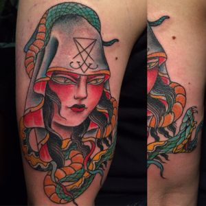 Heretic. Done at the classic tradtional tattoo show in Herten Germany.